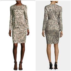 Black Halo Lively long sleeve leopard print dress